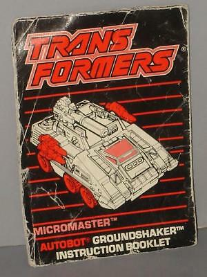 G1 TRANSFORMERS AUTOBOT MICROMASTER BASE GROUNDSHAKER LARGE CANNON LOT # 2