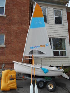 Walker Bay 10 Sailing/Rowing Boat with Trailer