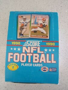 1990 Score Series 2 Football Box 36 Packs,15 Cards Per Pack!