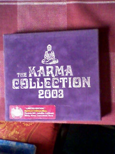 THE KARMA COLLECTION 2003 LTD ED x 2 CDSMINISTRY OF SOUNDin Ashford, KentGumtree - QUITE RARE NOW. SPIRITUAL CHILL OUT VIBES. LIMITED EDITION. 2 DISCS COMPLETE WITH LEAFLET WITH SONG TITLES. PURPLE SUEDE COVERED BOX WITH SILVER LETTERING (SOME FADED BITS). PANJABI MC, JAKATTA, LEFTFIELD, MOBY, KOOP, OAKENFOLD, BENT. PLAYS O.K...