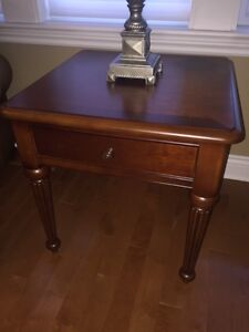 MATCHING SET wooden side table and coffee table - negotiable