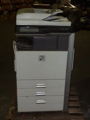 Sharp Mx 4100n Multifunction Printer Copier Scan Color Network Laser Used
