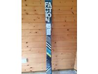 Faction skis, 174cm in length, brand new, unused and still in original plastic covering
