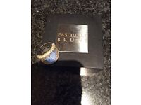 Pasquale Bruni yellow sapphire and diamond ring. 18 ct gold. Excellent condition. Beautiful piece.