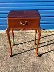 FREE DELIVERY Rare Queen Anne Flame Mahogany bedside drawers x 1