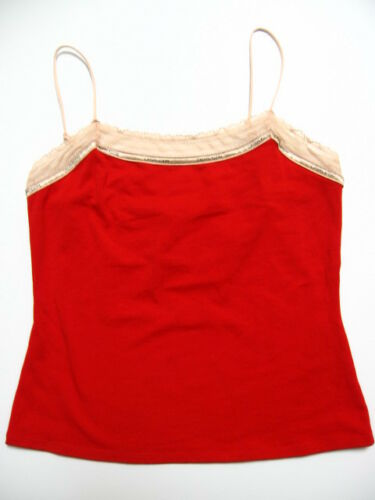 www.prominentresults.com :X297 Calvin Klein NEW D1211 Red Perfectly Fit Logo Lace Neckline Camisole L PR
