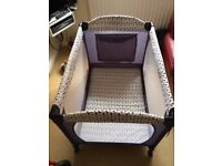 John Lewis Travel Cot in Excellent Condition, Used Twice.