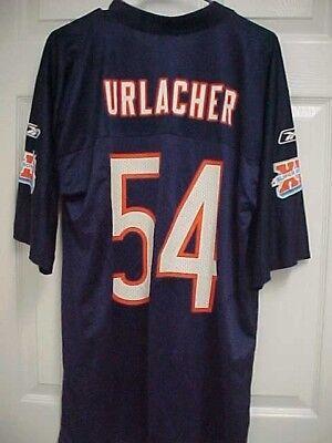 BRIAN URLACHER 54 Super Bowl XLI Chicago Bears Nylon Football Jersey M Reebok (Brian Urlacher Super Bowl)
