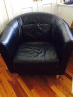 Ikea TULLSTA Airchair - Black Leather