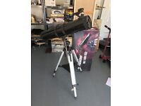 Skywatcher telescope with box- very lightly used and in great condition