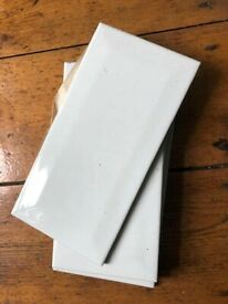 23 White Wall Tiles - bevilled edge - Unused