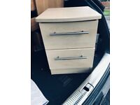 chest of drawers and matching bedside table