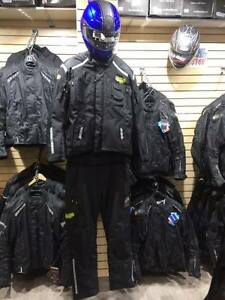 NEW STREETZ BREATHABLE BLACK MOTORCYCLE SUIT