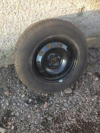"Mk4 Golf New old stock 14"" steel wheels with premium tyres"