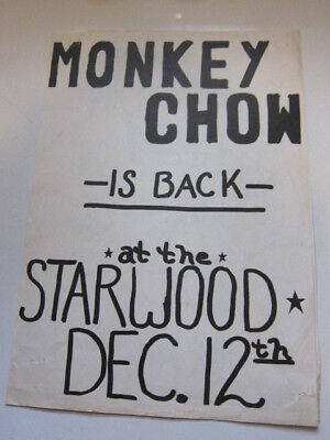 Monkey Chow  Starwood Concert Poster