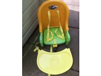 Chairmate highchair , yellow. Convenience of a full sixed highchair in space saving design.