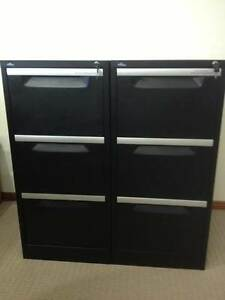 Filing Cabinets Pair 3 Drawer Pinnacle Brand Merrimac Gold Coast City Preview