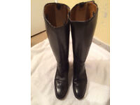 CAVALLO BLACK LEATHER LONG RIDING BOOTS - 7.5 UK | 41EUR