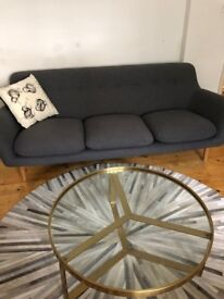 MADE Aula Coffee Table Brushed Brass