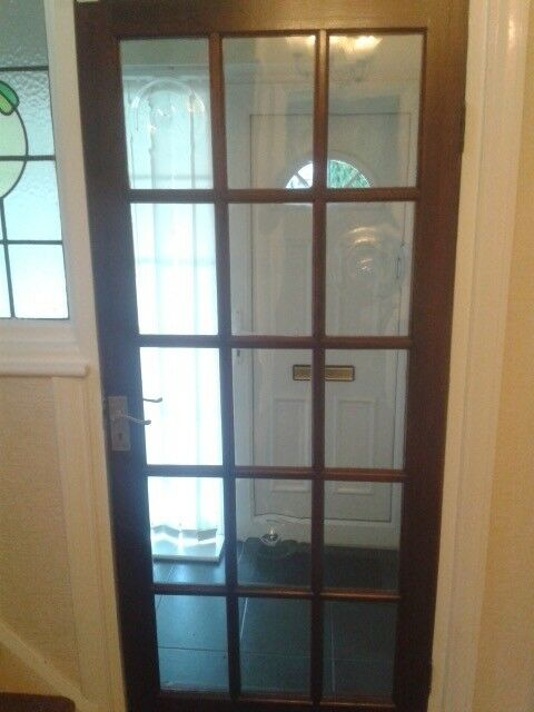 7 Wooden Internal Doors With Bevelled Glass In Beeston