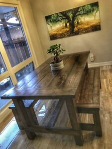 Farmhouse Dining Tables and Benches - Multiple Styles!