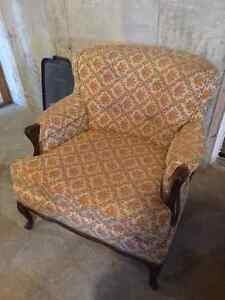 Antique Couch & Chair - $140 OBO
