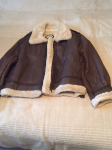Ladies Aviator style leather jacket for sale