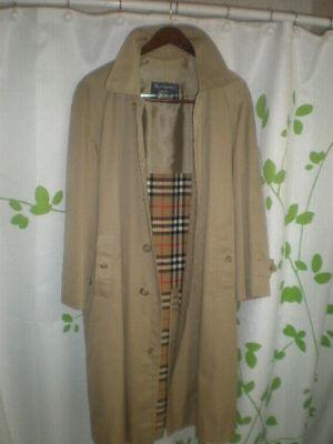 Vintage Men's Burberry London Trench Coat w/ Zip Out CHECK Liner sz 42