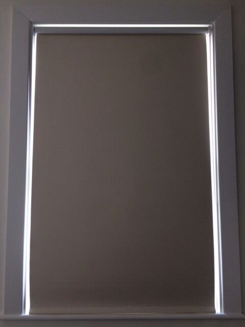 Gorgeous shimmering pearl blackout blinds (pair)