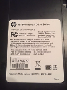 HP Photosmart D110 Wireless Printer