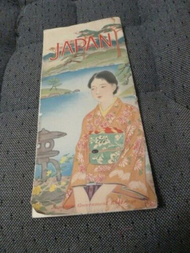 Old Japan Japanese Government Railways Map Travel Brochure