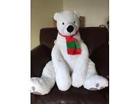 Big Polar Bear Soft Toy - New