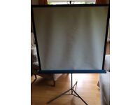 screen for film projection or slide shows, folds and easy to store or carry