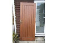Outside door, good quality, used, about 3 yrs old, 1985x805mm