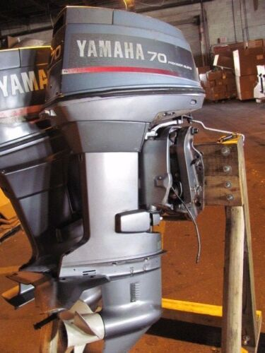 """70 Hp Yamaha Outboard Motor 2-stroke 20"""" 70tlrd 130psi All - Oil Injection"""