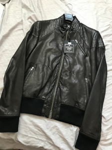 Brand New! Men's Mackage Marco Leather Jacket (Size 38/Small)