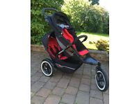 Phil & Teds Explorer Buggy with Doubles Kit, Rain & Sun Covers, Cocoon and Buggy Snuggle