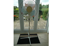 Pedestal Fan, 3 speed, fixed or oscillating, tilt and height adjustable
