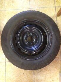 175 65 R14 Vredestein Snowtrack 3 Tyres (on near new Yaris steel wheels 4x100 stud)