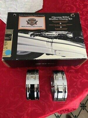 Harley Davidson 65271-03 Chromed Billet Exhaust Clamps V Rod VRSC Vrod VRSCSE