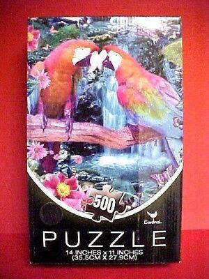 CARDINAL CO. 500 PIECE JIGSAW PUZZLE Parrots In Paradise  NIB