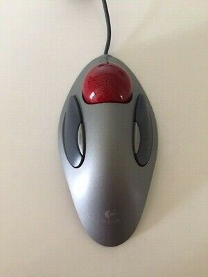 270f9a25532 アメリカ Logitech Ambidextrous TrackMan Marble Trackball Mouse T-BC21 in Good  Condition