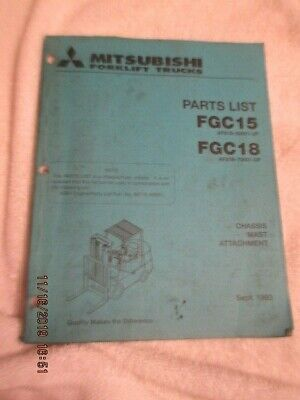Oem Factory Mitsubishi Parts List Manual Book Forklift Fgc15 Fgc18 Lift Truck