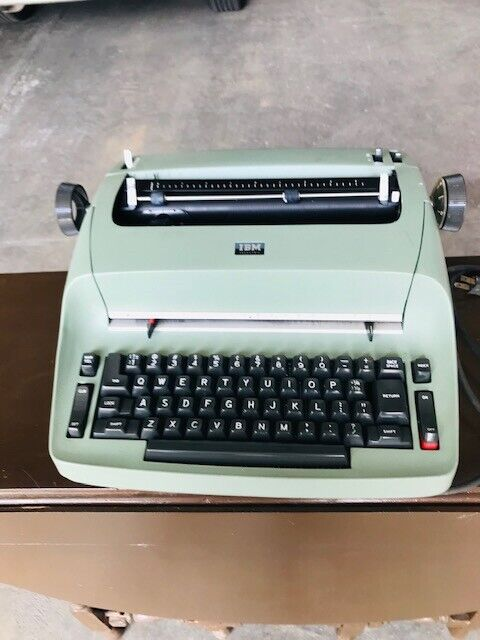 Vintage IBM Selectric I Typewriter Mint Green with Original Cover