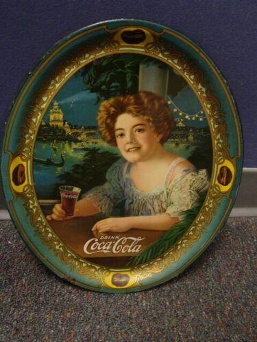 1909 Medium Oval Coca-Cola Serving Tray