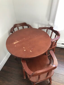 Children's Table and Chairs (3) Set (old/vintage/antique)