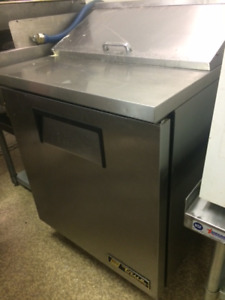 SMALL STAINLESS COUNTER TOP PREP FRIDGE