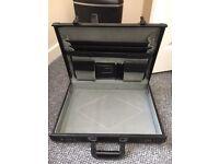 Black hard-bodied briefcase