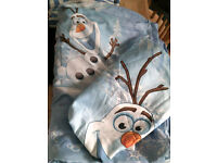 frozen duvet cover, and pillow case,snowman olaf, single size