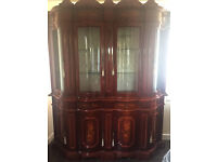 Italian Wooden Dining Room Display Cabinets and Sideboard